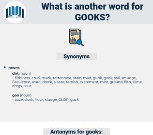 gooks, synonym gooks, another word for gooks, words like gooks, thesaurus gooks
