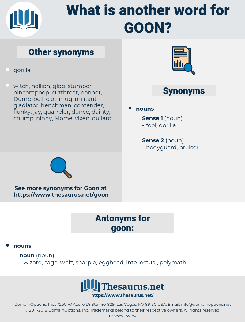 goon, synonym goon, another word for goon, words like goon, thesaurus goon
