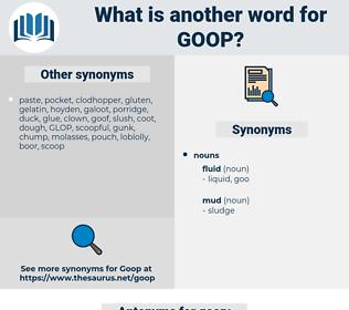 goop, synonym goop, another word for goop, words like goop, thesaurus goop