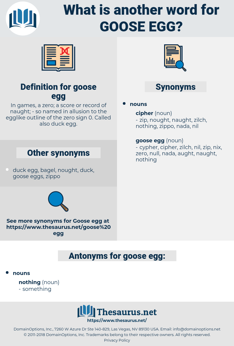 goose egg, synonym goose egg, another word for goose egg, words like goose egg, thesaurus goose egg