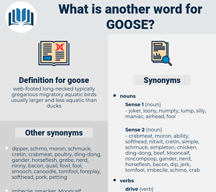 goose, synonym goose, another word for goose, words like goose, thesaurus goose