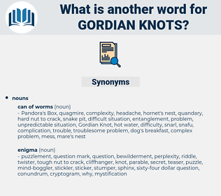 gordian knots, synonym gordian knots, another word for gordian knots, words like gordian knots, thesaurus gordian knots