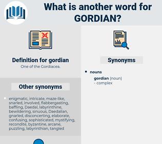 gordian, synonym gordian, another word for gordian, words like gordian, thesaurus gordian