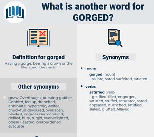 gorged, synonym gorged, another word for gorged, words like gorged, thesaurus gorged