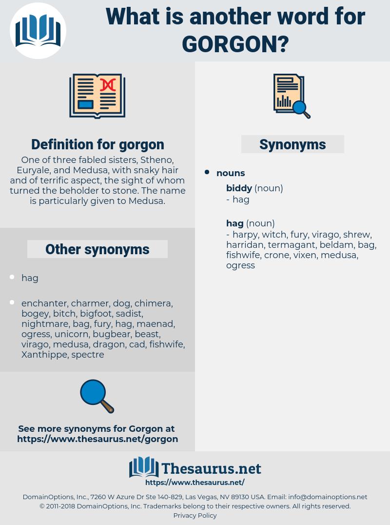 gorgon, synonym gorgon, another word for gorgon, words like gorgon, thesaurus gorgon