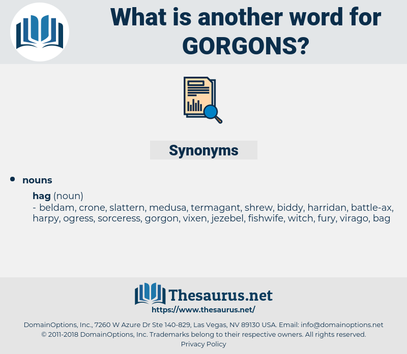 gorgons, synonym gorgons, another word for gorgons, words like gorgons, thesaurus gorgons