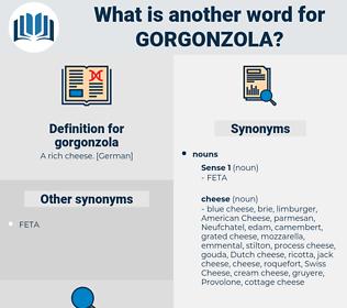gorgonzola, synonym gorgonzola, another word for gorgonzola, words like gorgonzola, thesaurus gorgonzola