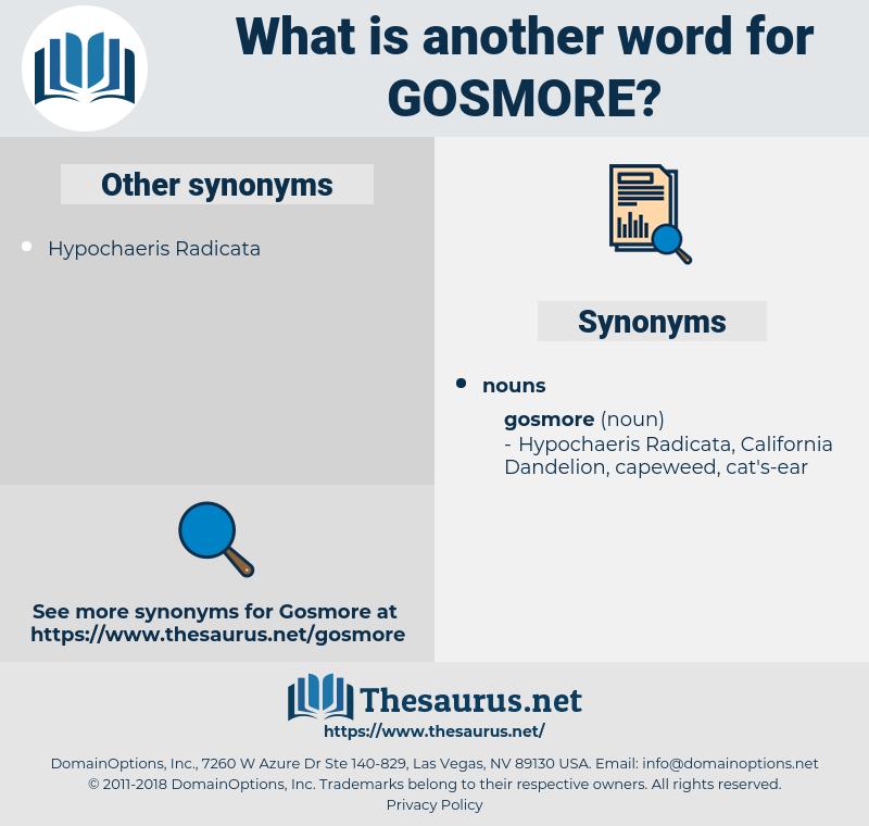 gosmore, synonym gosmore, another word for gosmore, words like gosmore, thesaurus gosmore