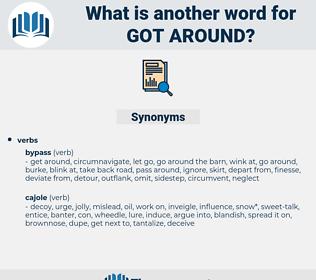 got around, synonym got around, another word for got around, words like got around, thesaurus got around