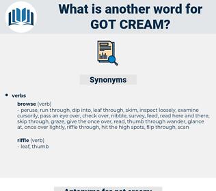 got cream, synonym got cream, another word for got cream, words like got cream, thesaurus got cream