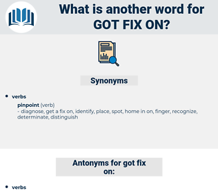 got fix on, synonym got fix on, another word for got fix on, words like got fix on, thesaurus got fix on
