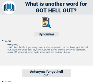 got hell out, synonym got hell out, another word for got hell out, words like got hell out, thesaurus got hell out