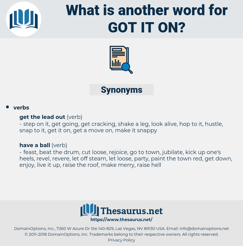 got it on, synonym got it on, another word for got it on, words like got it on, thesaurus got it on