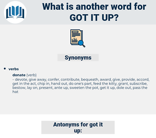 got it up, synonym got it up, another word for got it up, words like got it up, thesaurus got it up