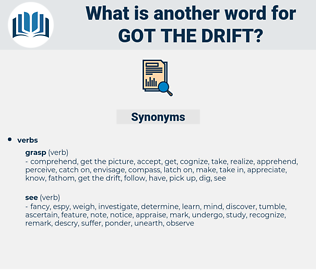 got the drift, synonym got the drift, another word for got the drift, words like got the drift, thesaurus got the drift