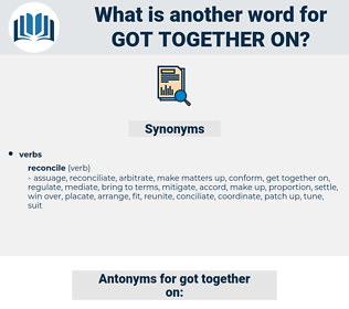got together on, synonym got together on, another word for got together on, words like got together on, thesaurus got together on