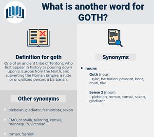 goth, synonym goth, another word for goth, words like goth, thesaurus goth