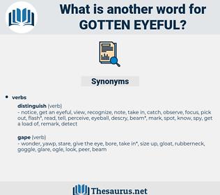 gotten eyeful, synonym gotten eyeful, another word for gotten eyeful, words like gotten eyeful, thesaurus gotten eyeful