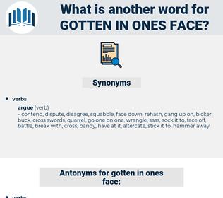 gotten in ones face, synonym gotten in ones face, another word for gotten in ones face, words like gotten in ones face, thesaurus gotten in ones face