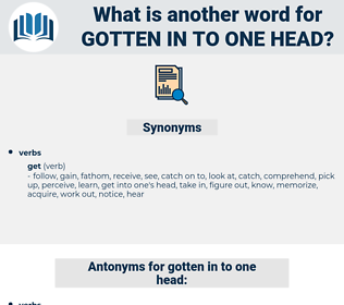 gotten in to one head, synonym gotten in to one head, another word for gotten in to one head, words like gotten in to one head, thesaurus gotten in to one head