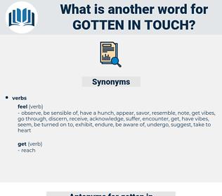 gotten in touch, synonym gotten in touch, another word for gotten in touch, words like gotten in touch, thesaurus gotten in touch