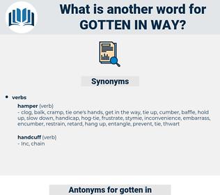 gotten in way, synonym gotten in way, another word for gotten in way, words like gotten in way, thesaurus gotten in way