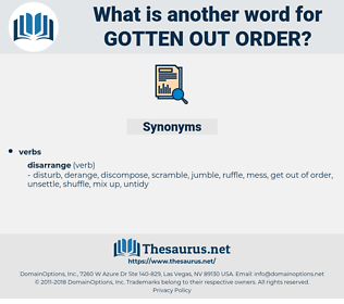 gotten out order, synonym gotten out order, another word for gotten out order, words like gotten out order, thesaurus gotten out order
