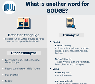 gouge, synonym gouge, another word for gouge, words like gouge, thesaurus gouge