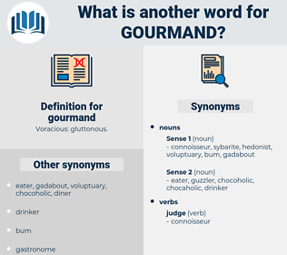 gourmand, synonym gourmand, another word for gourmand, words like gourmand, thesaurus gourmand