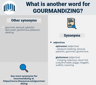 gourmandizing, synonym gourmandizing, another word for gourmandizing, words like gourmandizing, thesaurus gourmandizing