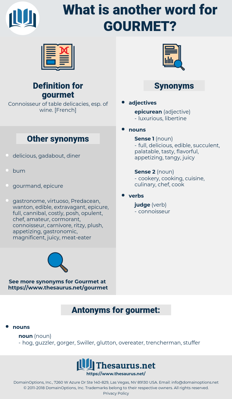 gourmet, synonym gourmet, another word for gourmet, words like gourmet, thesaurus gourmet
