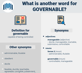 governable, synonym governable, another word for governable, words like governable, thesaurus governable