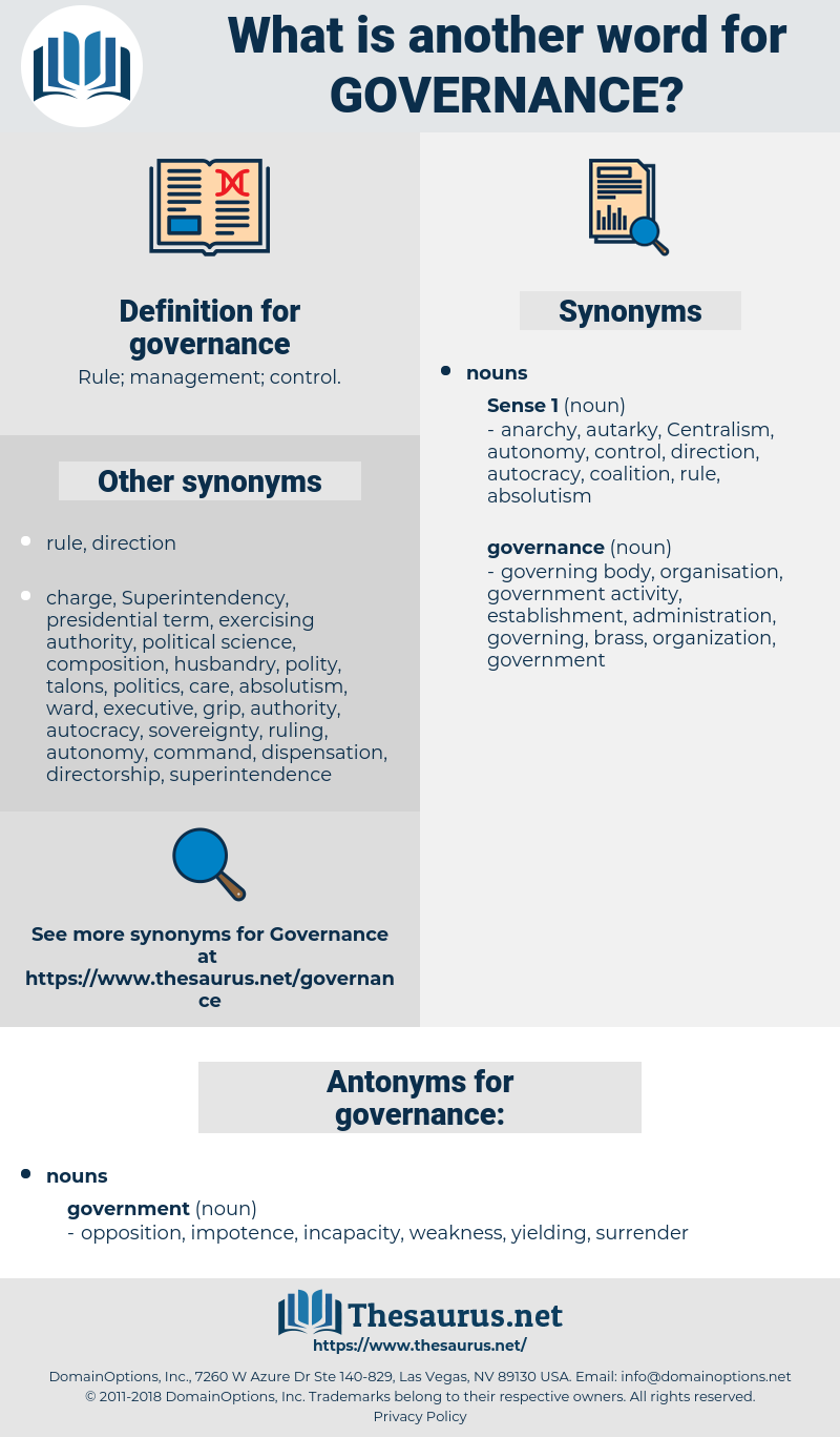 governance, synonym governance, another word for governance, words like governance, thesaurus governance