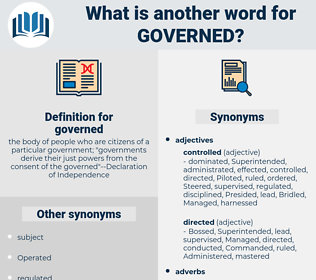 governed, synonym governed, another word for governed, words like governed, thesaurus governed