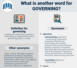 governing, synonym governing, another word for governing, words like governing, thesaurus governing