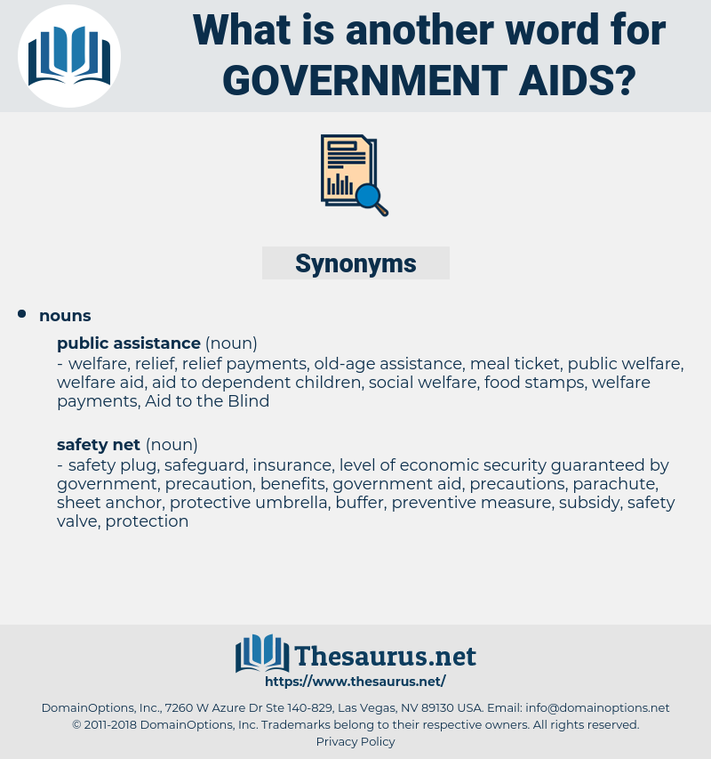 government aids, synonym government aids, another word for government aids, words like government aids, thesaurus government aids