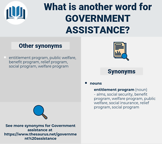 government assistance, synonym government assistance, another word for government assistance, words like government assistance, thesaurus government assistance