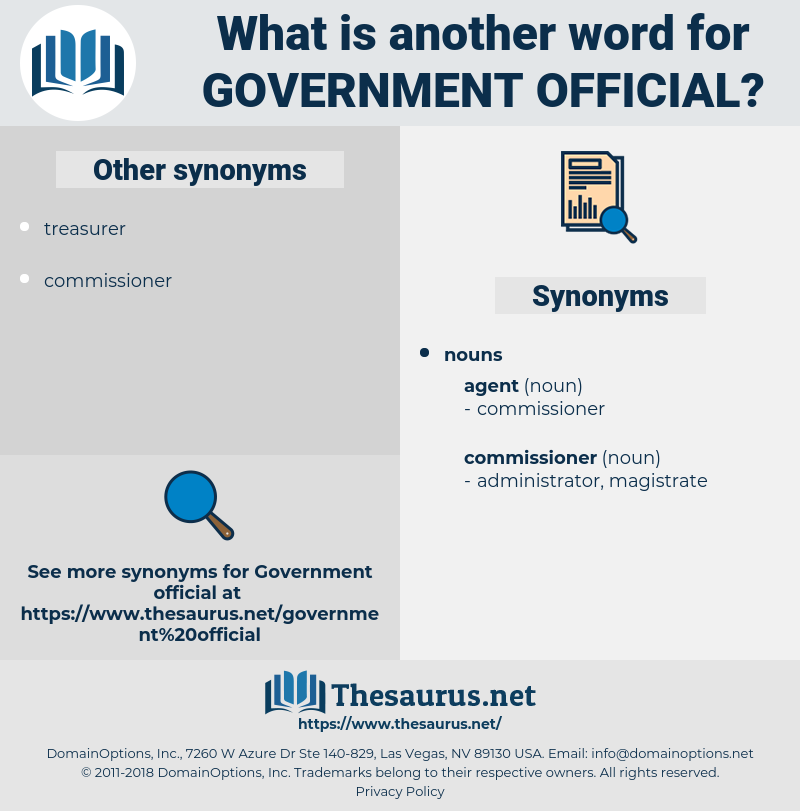 Government Official, synonym Government Official, another word for Government Official, words like Government Official, thesaurus Government Official