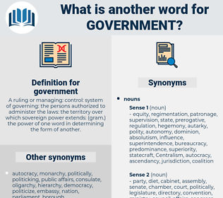 government, synonym government, another word for government, words like government, thesaurus government