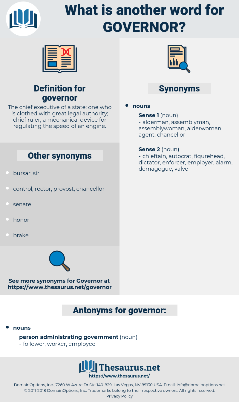 governor, synonym governor, another word for governor, words like governor, thesaurus governor