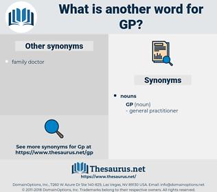 gp, synonym gp, another word for gp, words like gp, thesaurus gp