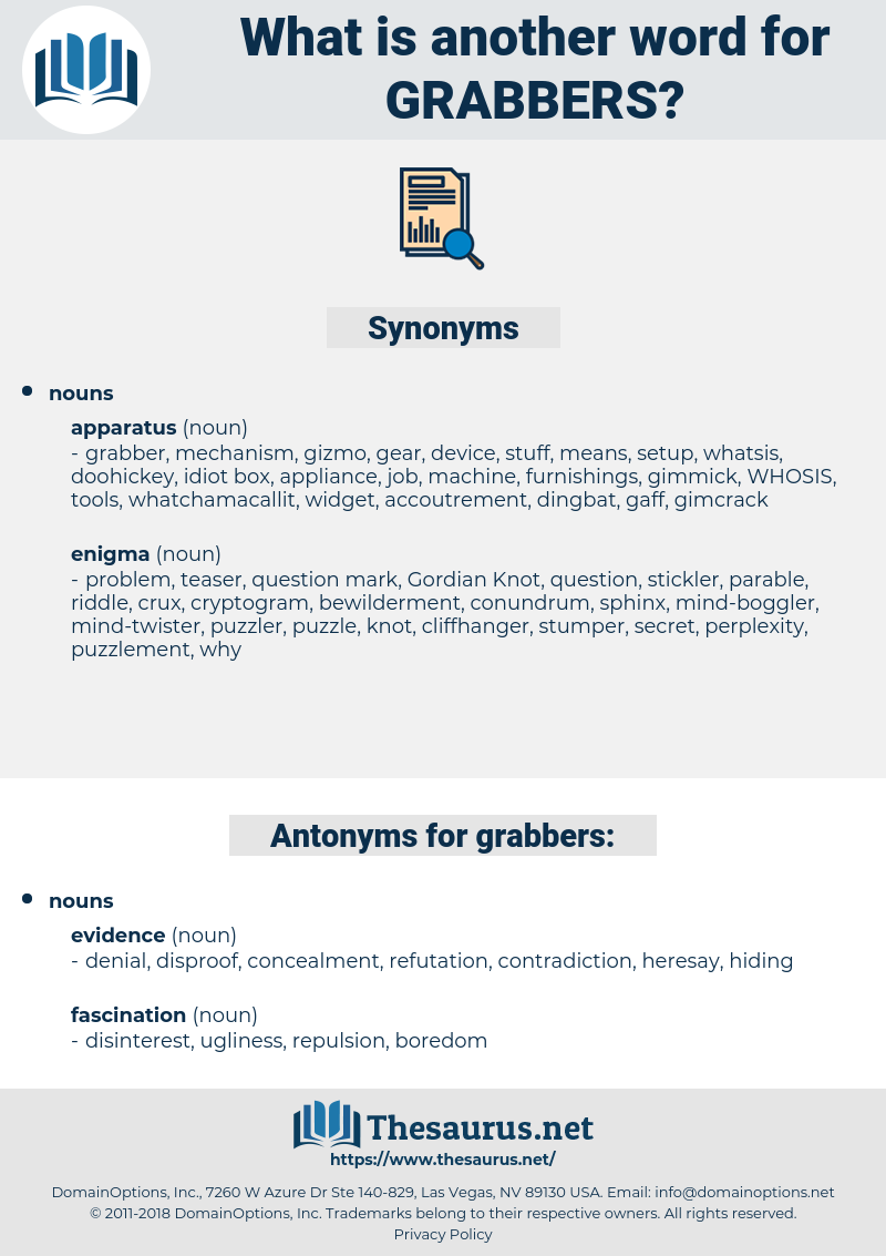 grabbers, synonym grabbers, another word for grabbers, words like grabbers, thesaurus grabbers