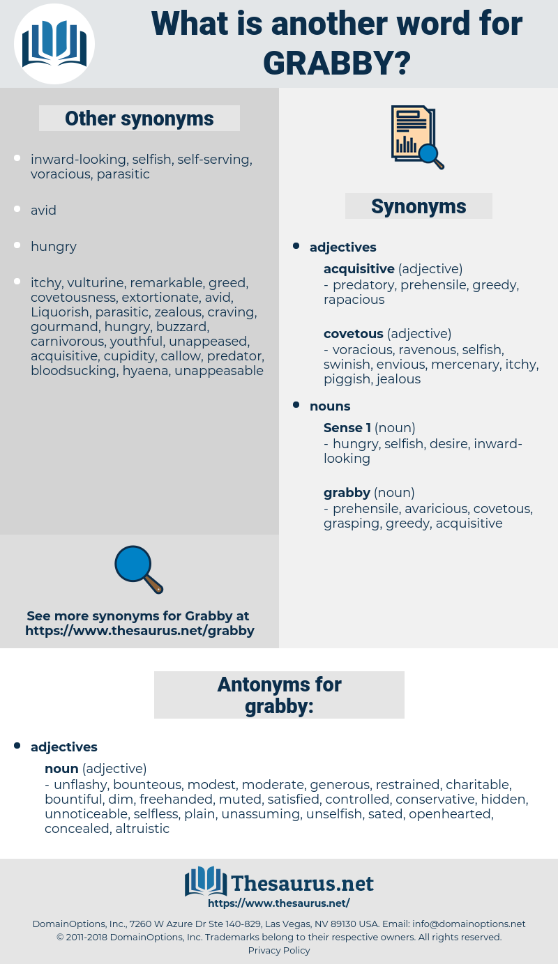grabby, synonym grabby, another word for grabby, words like grabby, thesaurus grabby