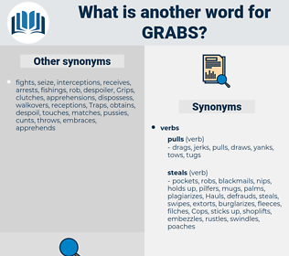 grabs, synonym grabs, another word for grabs, words like grabs, thesaurus grabs