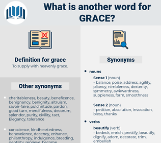 grace, synonym grace, another word for grace, words like grace, thesaurus grace