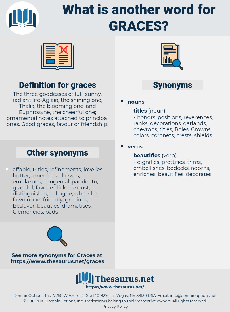 graces, synonym graces, another word for graces, words like graces, thesaurus graces