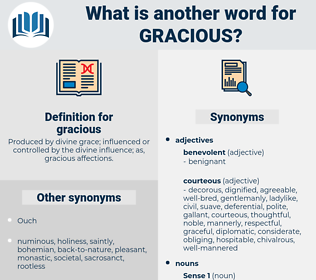 gracious, synonym gracious, another word for gracious, words like gracious, thesaurus gracious