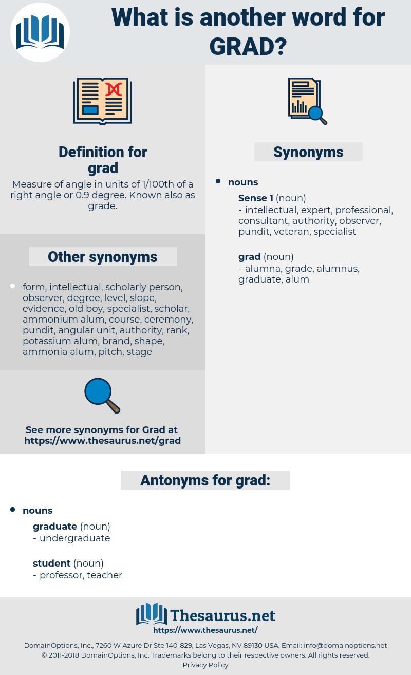 grad, synonym grad, another word for grad, words like grad, thesaurus grad