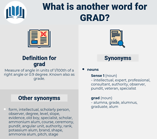 grad, synonym grad, another word for grad, words like grad, thesaurus grad