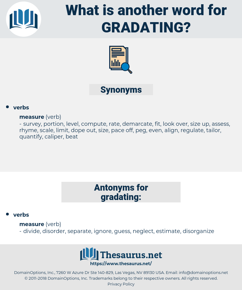 gradating, synonym gradating, another word for gradating, words like gradating, thesaurus gradating